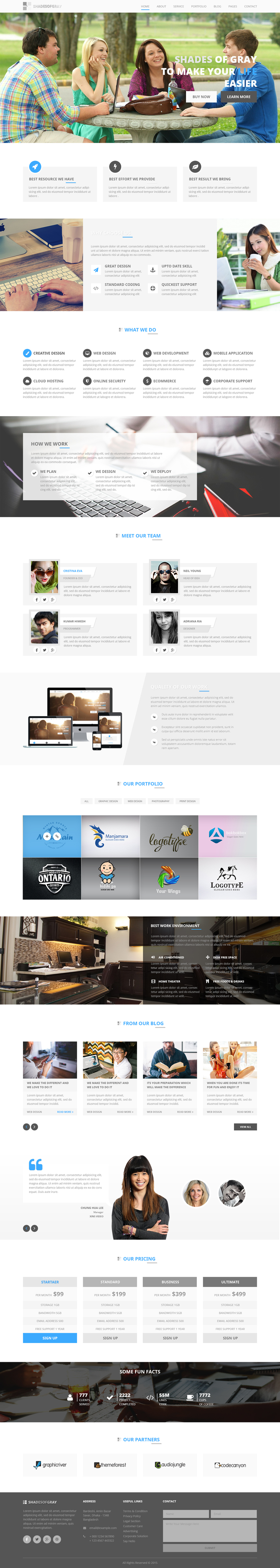 website templates psd free download