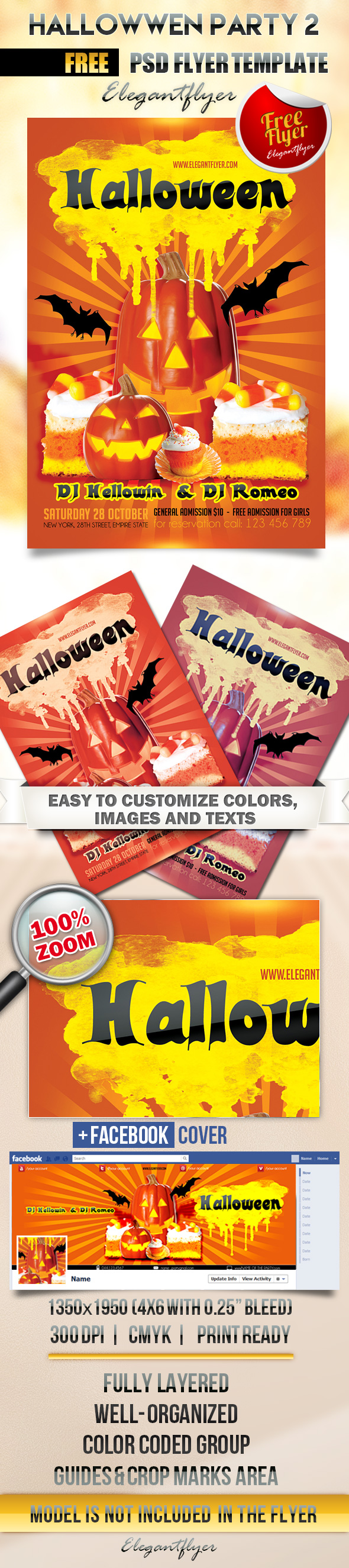 20 free psd halloween flyer templates free psd templates. Black Bedroom Furniture Sets. Home Design Ideas