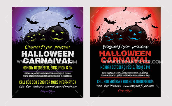 halloween flyer psd template facebook cover free download