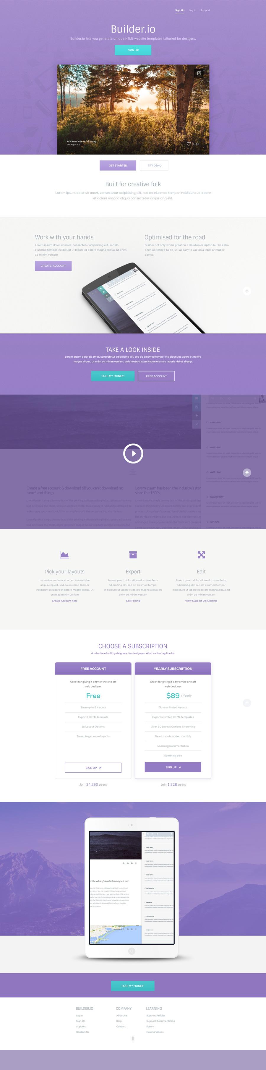 web template builder