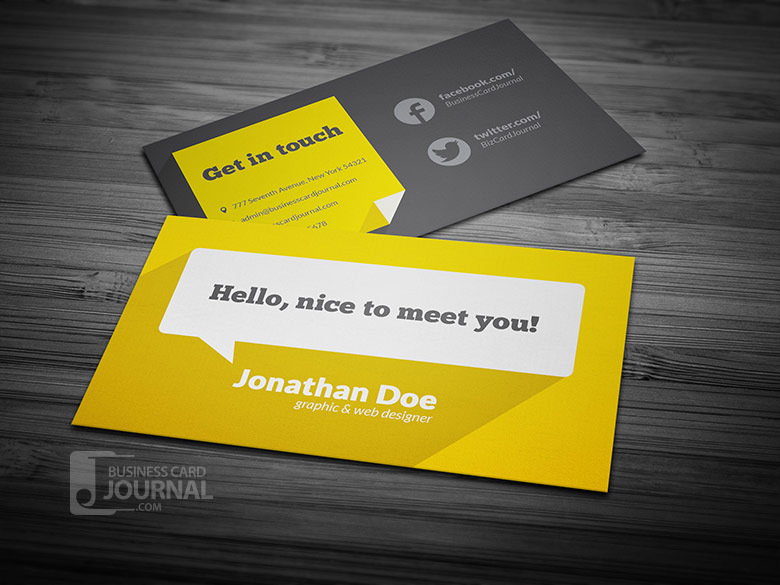 60 only the best free business cards 2015 free psd templates flat design business card template with long shadow accmission Gallery