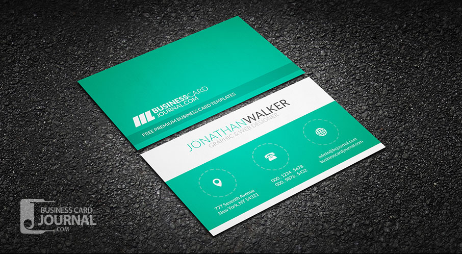 60 only the best free business cards 2015 free psd templates green clean minimal creative business card template 0024 reheart Image collections