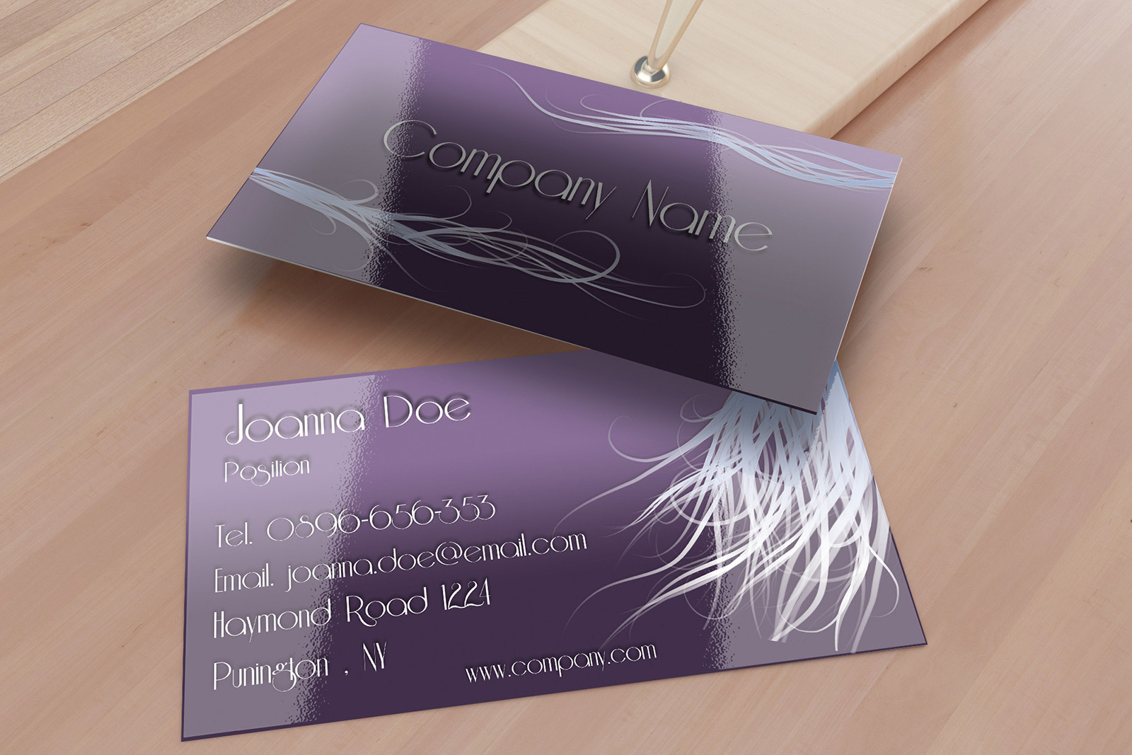 Elegant Silver Damask Hair Stylist Appointment Business Card ...