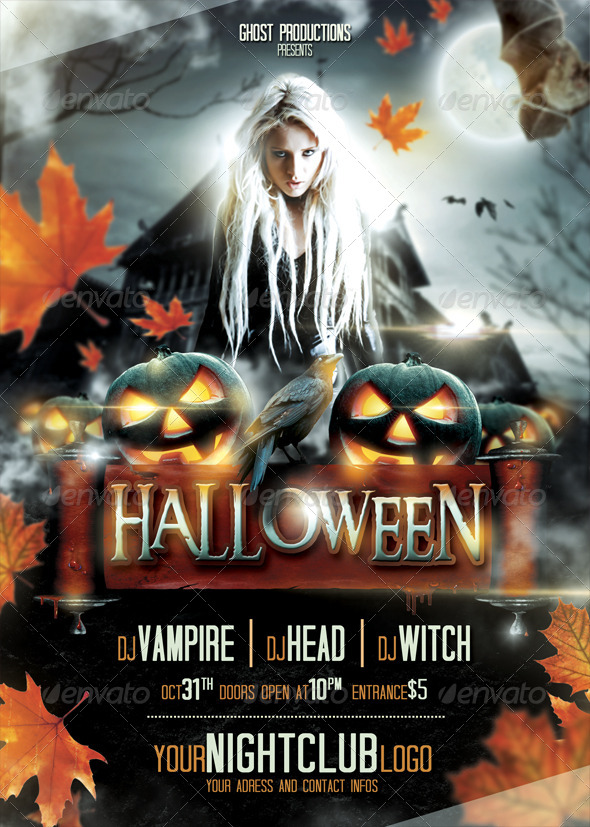 20 free psd halloween flyer templates free psd templates cmyk print ready with bleed margins 03mm dimensions 148521cm or 5883 inches a5 size all fonts are free saigontimesfo