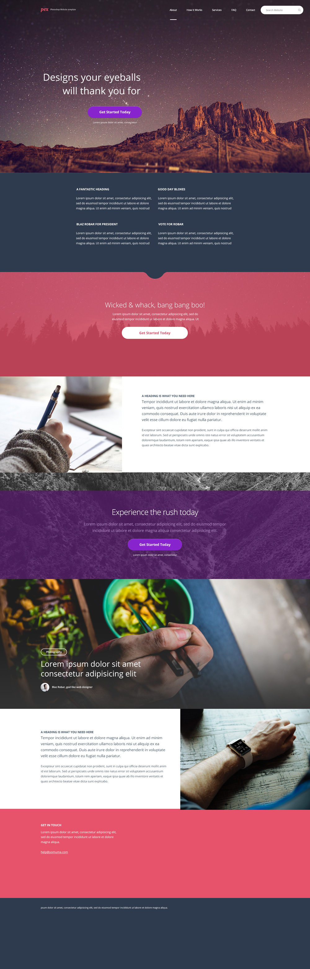 Free PSD Website Templates Free PSD Templates - Brochure website templates