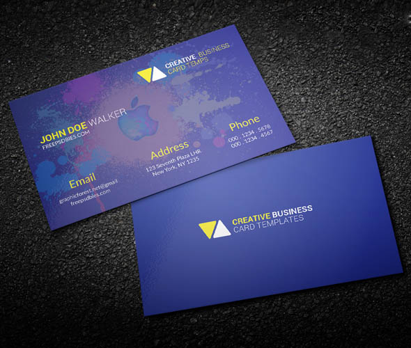 60 only the best free business cards 2015 free psd templates free psd personal business card reheart Gallery