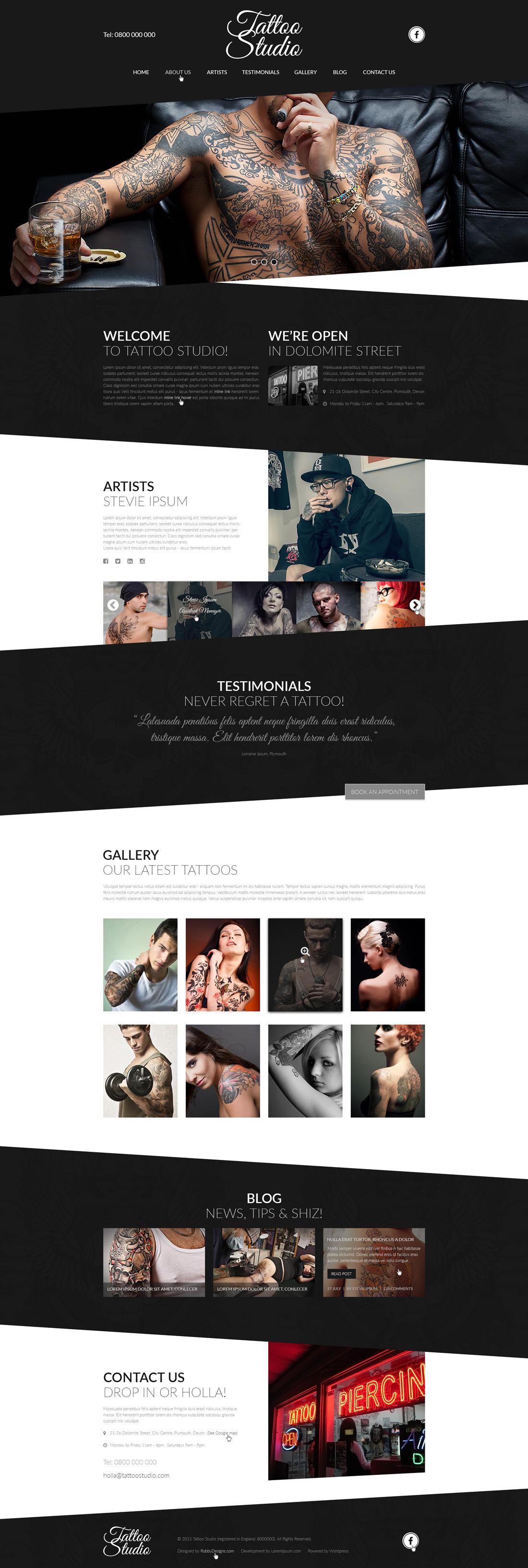 Tatoo-Studio_website_Design_PSD