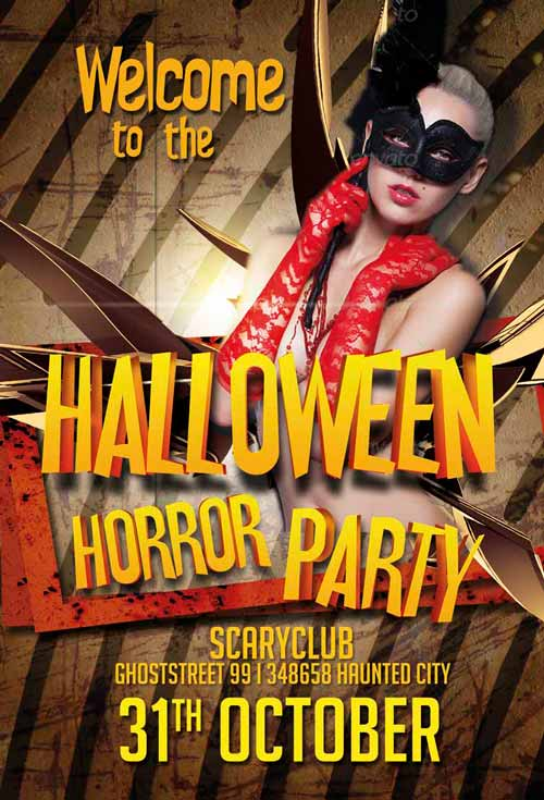 20 free psd halloween flyer templates free psd templates free halloween horror party flyer template awesomeflyer preview1 saigontimesfo