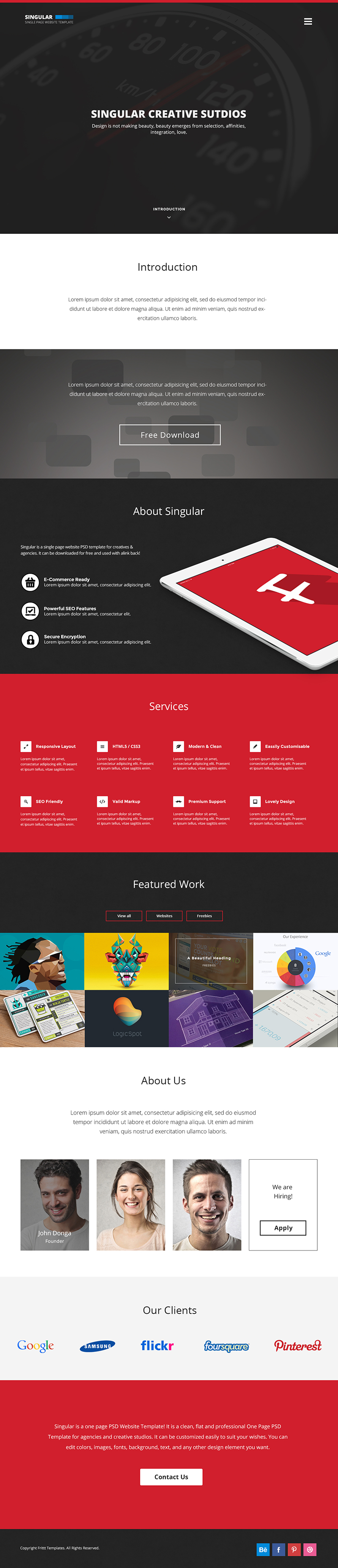 15 free psd website templates 2015 free psd templates this one page website template could be used for different kinds of sites such as agency portfolio landing page small business and freelancer sites fbccfo Choice Image