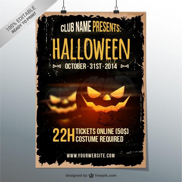 grunge-halloween-party-flyer_23-2147498659