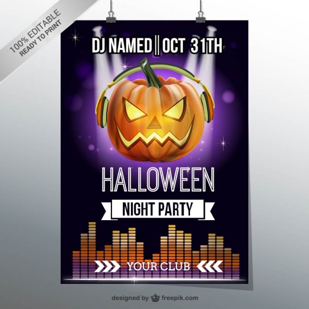 Free Psd Halloween Flyer Templates  Free Psd Templates