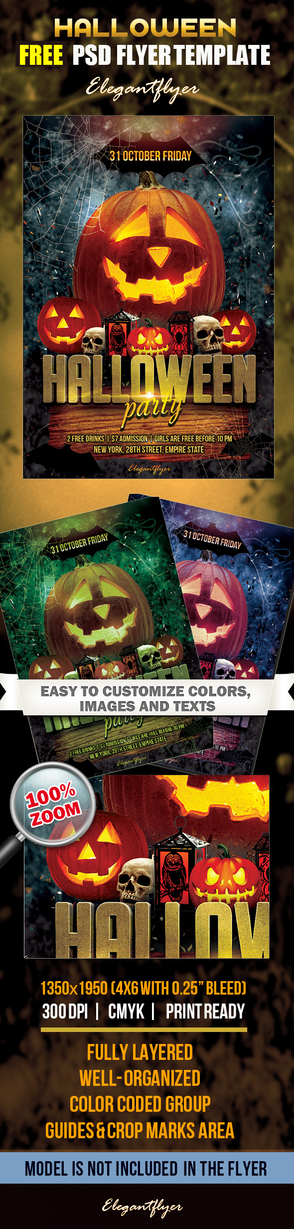 20 free psd halloween flyer templates free psd templates for Free halloween flyer templates