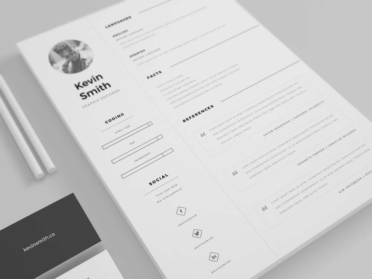 34 free psd cvresumes to find a good job free psd templates free clean and minimal resume template yelopaper Image collections