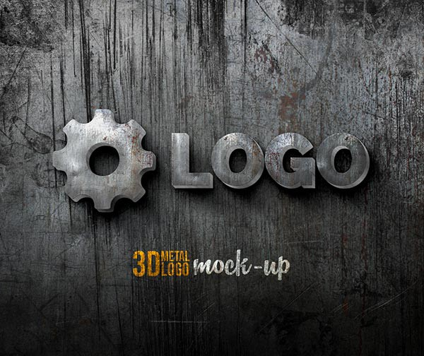3D Glossy Metal Logo Sign Mockup on Dark Wall 354730691 » Free Download  Photoshop Vector Stock image Via Torrent Zippyshare From psdkeys.com