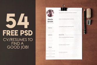 54+ PREMIUM & FREE PSD CV/RESUMES TO FIND A GOOD JOB!
