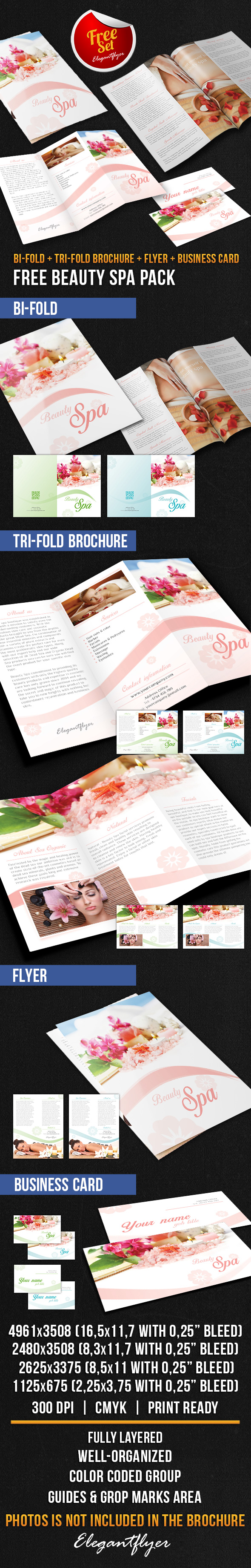 25 best free psd brochure templates free psd templates for Spa brochure templates free