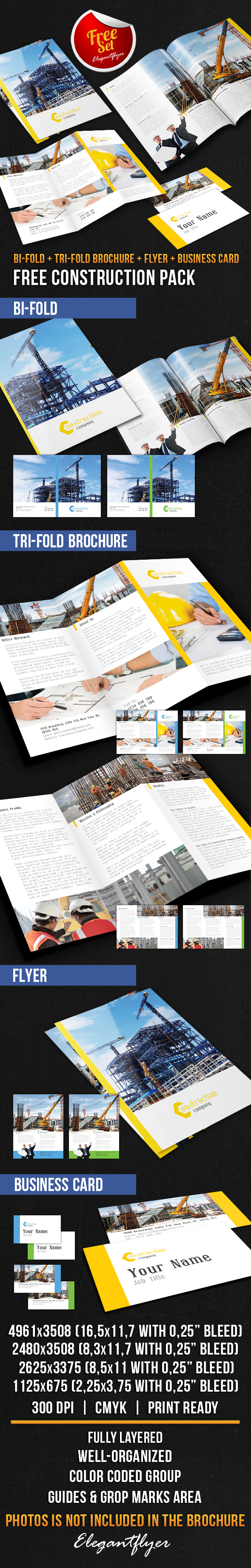 Best Free PSD Brochure Templates Free PSD Templates - Construction brochure templates