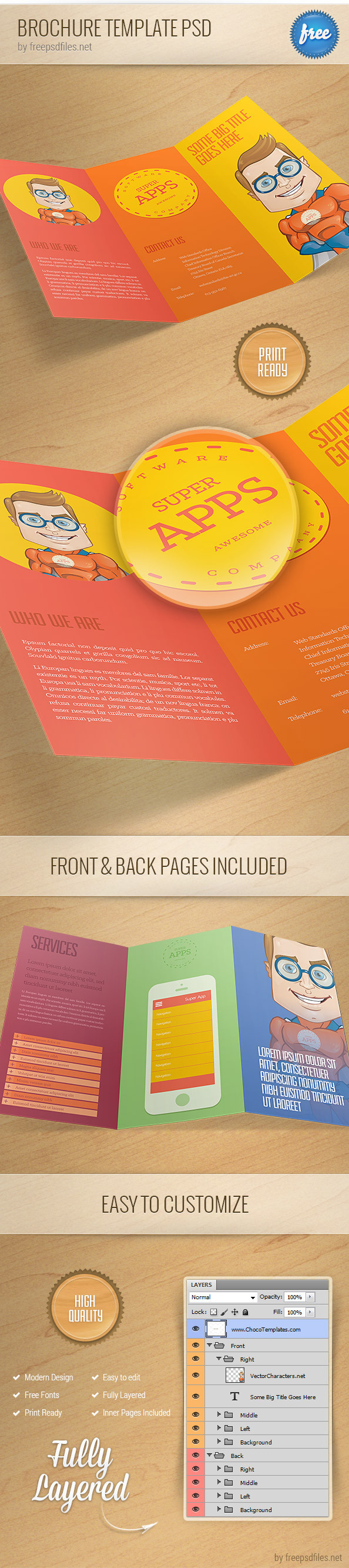 25 best free psd brochure templates free psd templates for Free psd brochure template