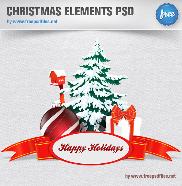Christmas_Elements_PSD_Preview