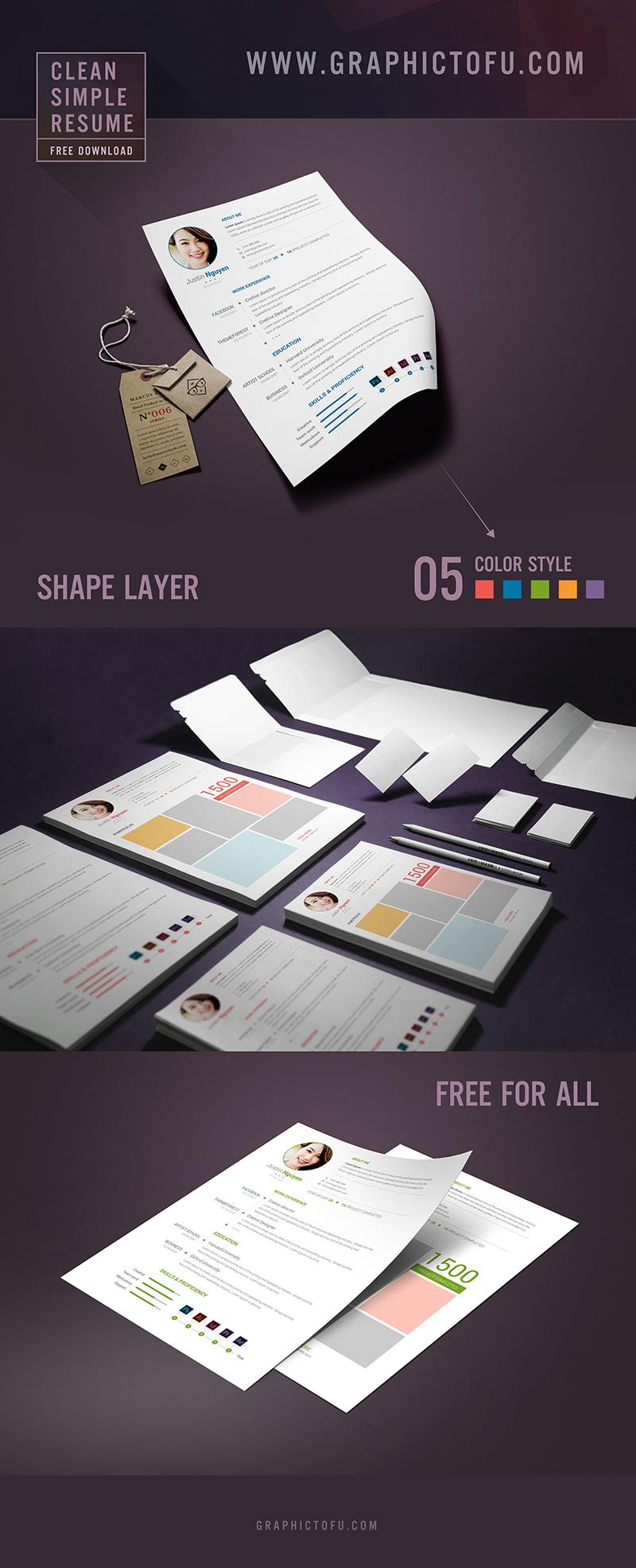 Clean-Simple-Resume-Graphictofu