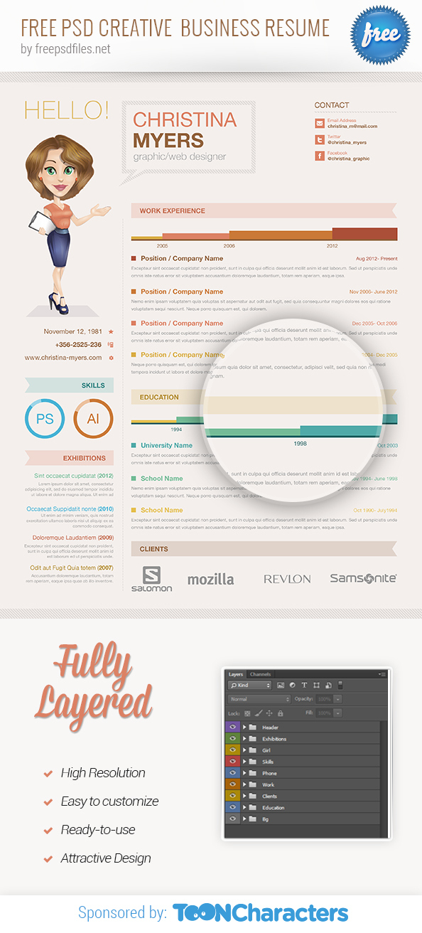 FREE-PSD-creative-business-resume-preview