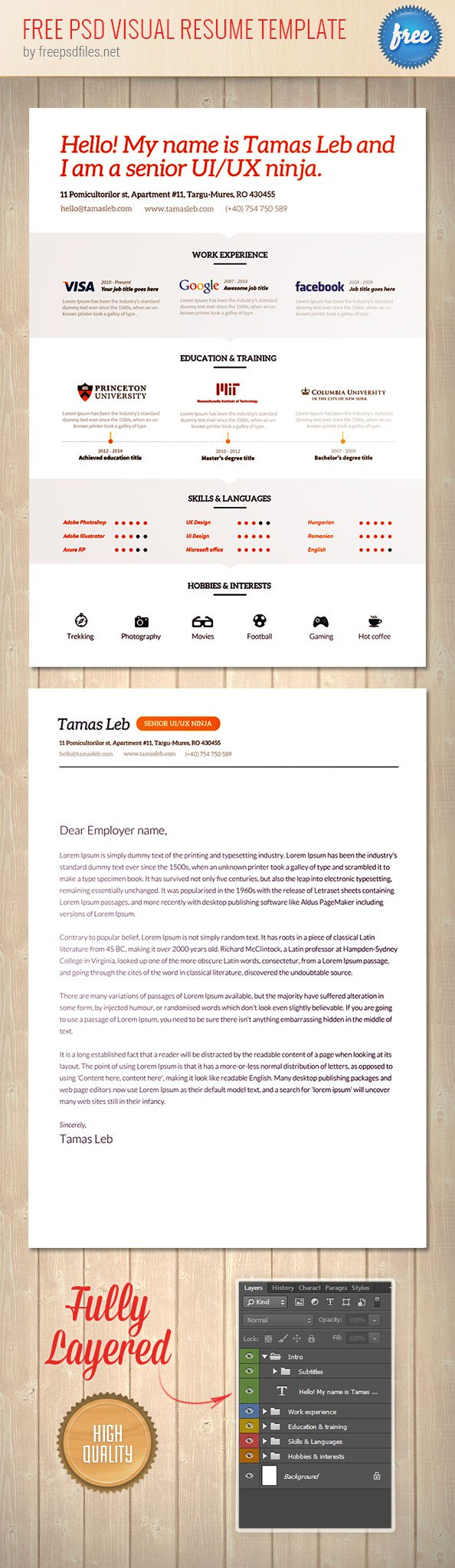 34 free psd cv  resumes to find a good job