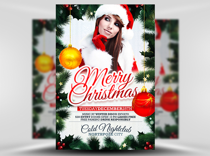 free xmas flyer template 1