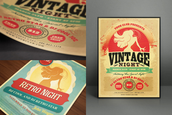 Realistic Flyer Card Mock-Ups Vol.1 2