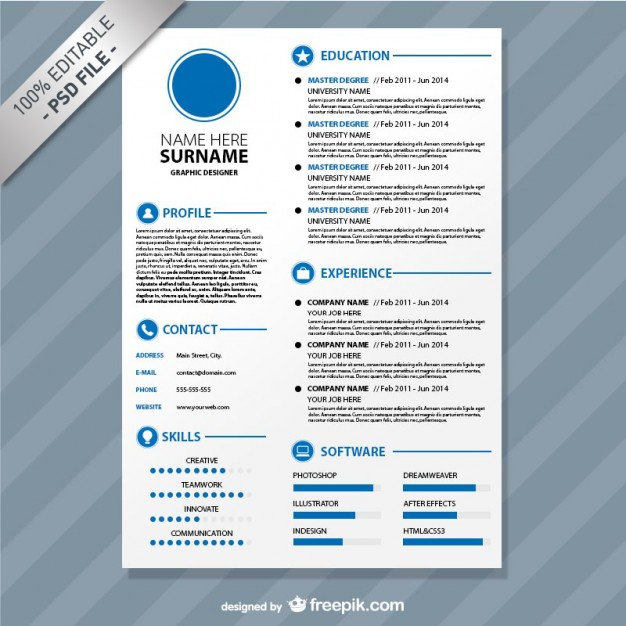 34 free psd cvresumes to find a good job free psd templates editable cv format download23 2147493184 yelopaper Image collections