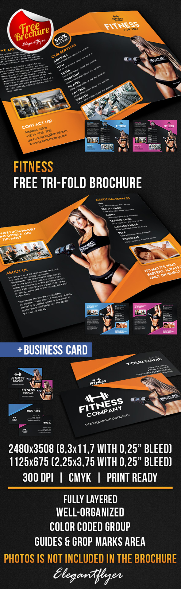 25 best free psd brochure templates free psd templates for Fitness brochure template