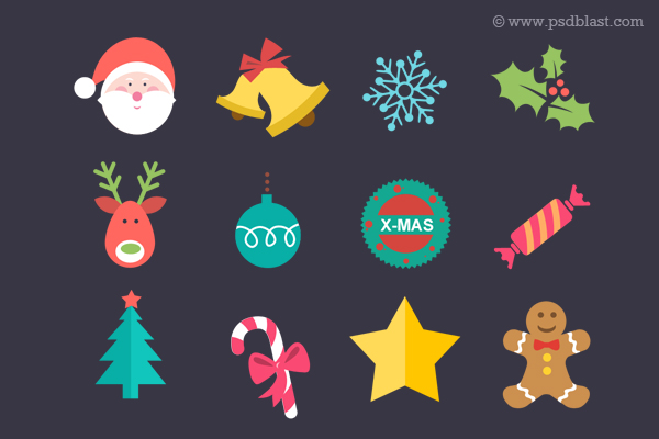 flat-christmas-icon-set-psd-56601