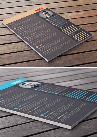 34 free psd cv resumes to find a free psd