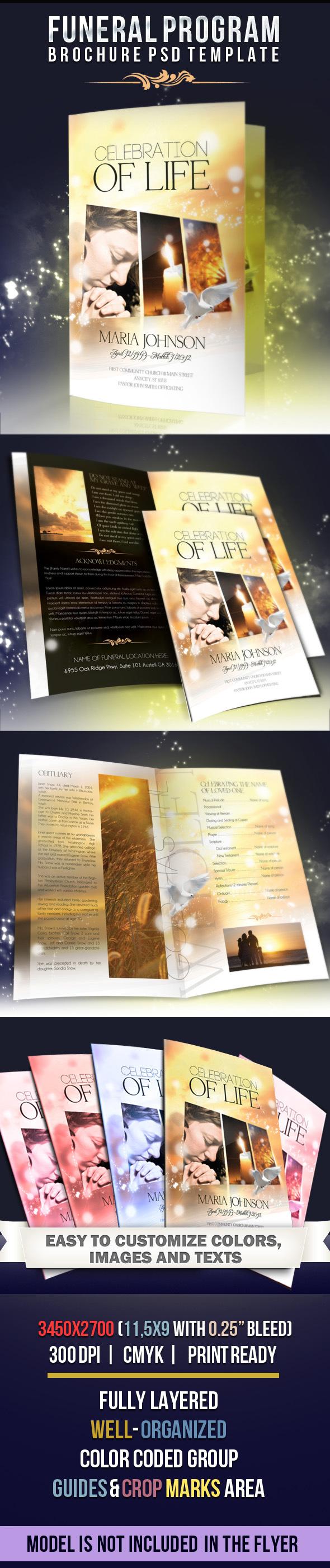 25 best free psd brochure templates free psd templates for Memorial brochure templates free