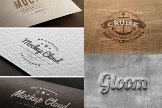 35+ Best Free Logos Mock-ups 2015