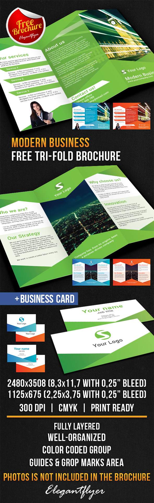 25 best free psd brochure templates free psd templates for Company brochure template free