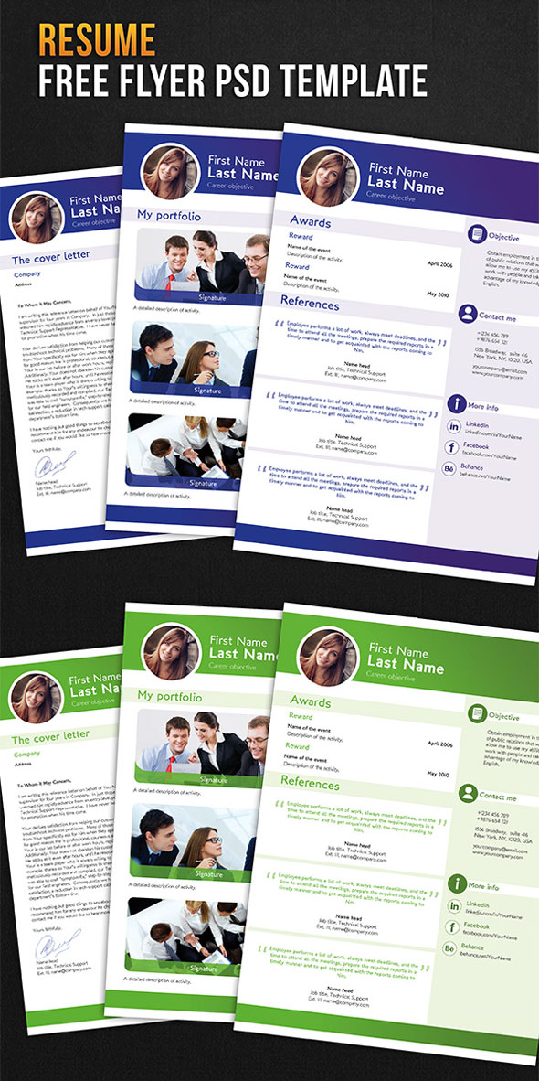 resume-free-flyer-psd-template