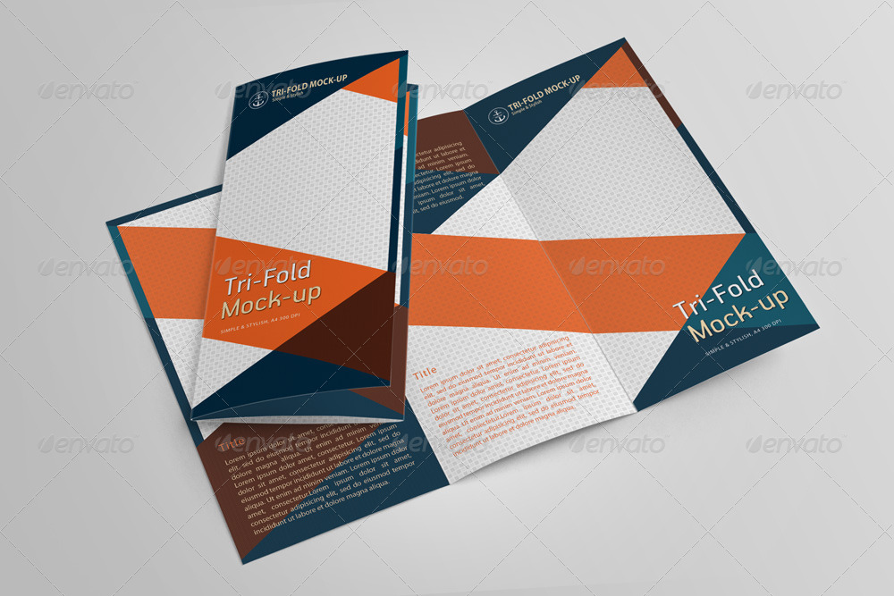 Mockup trifold brochure free mockup template in psd for Psd template brochure