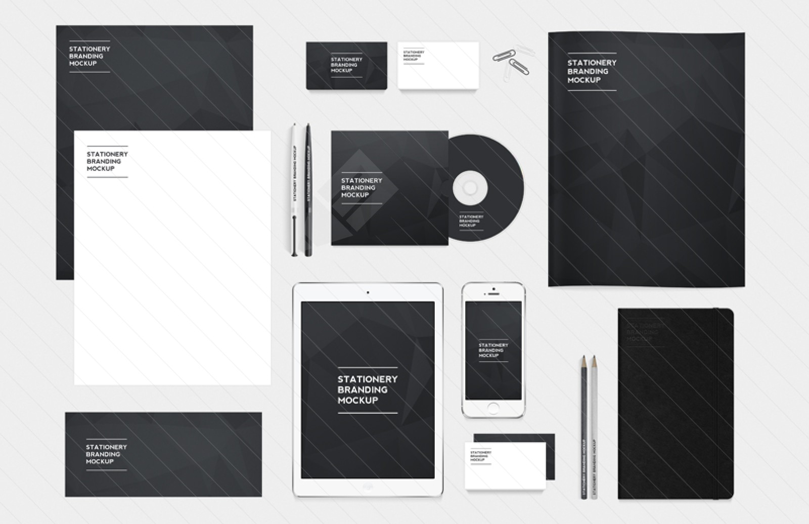 30+ Recognizable Free PSD Stationery MockUps! : Free PSD Templates