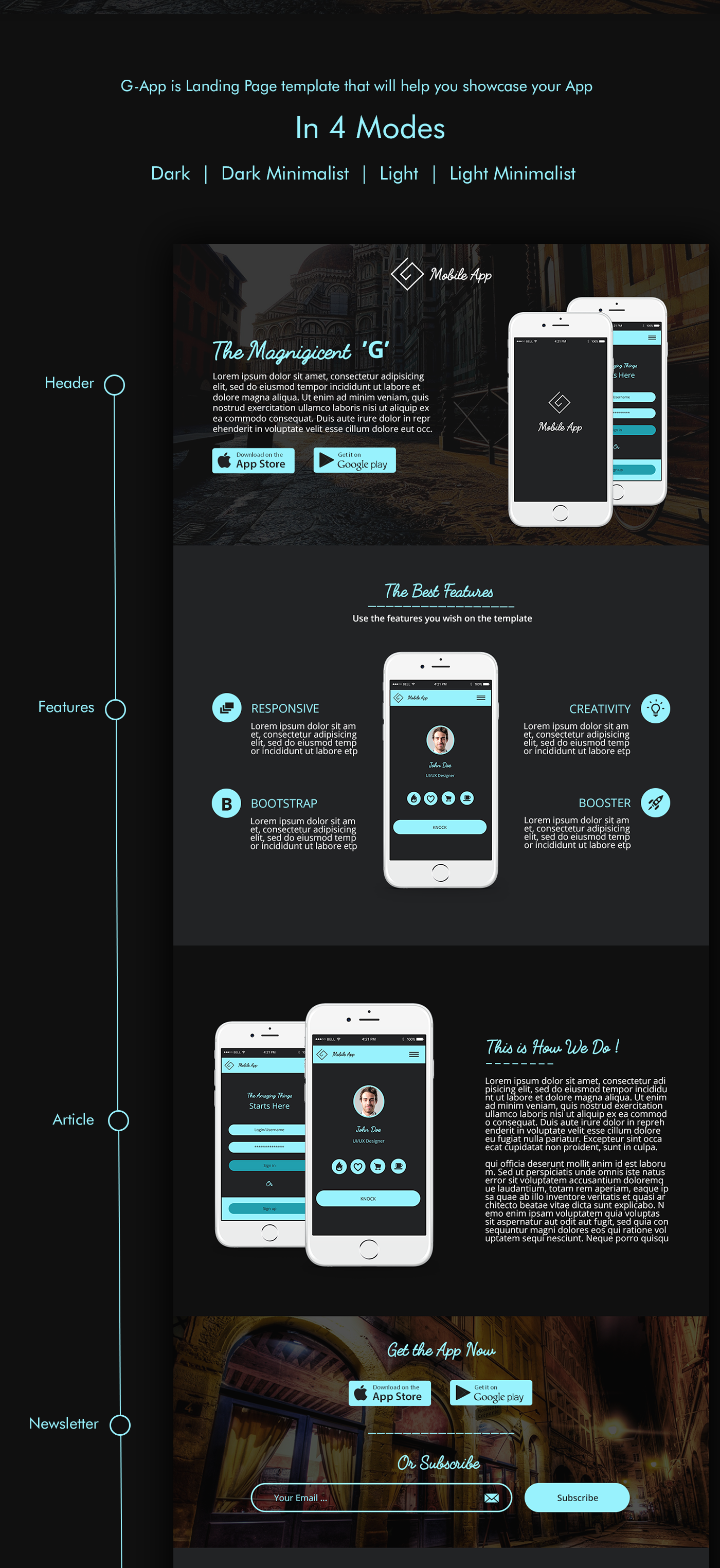Insta - One Page Responsive Resume Template Free Download Google ...