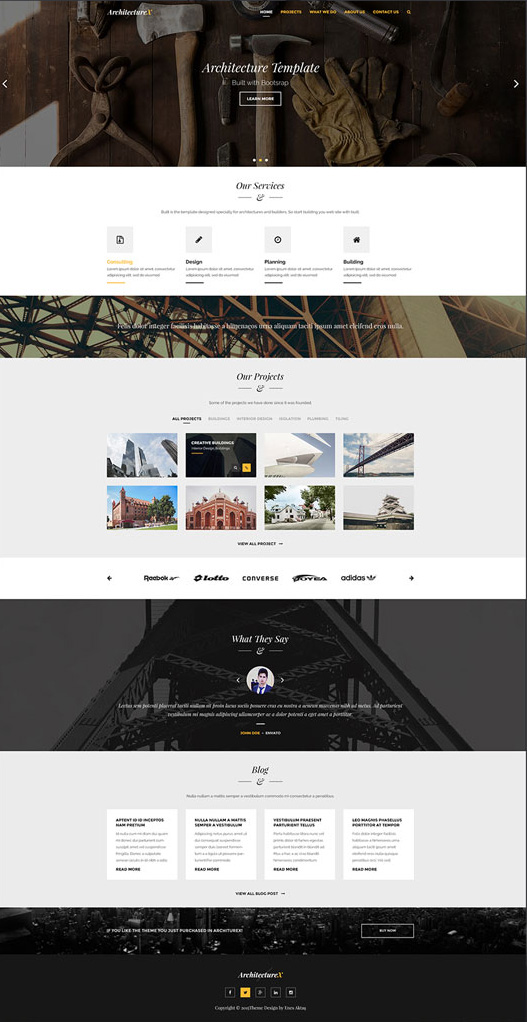 ArchitectureX-Free-PSD-Architecture-Landing-Page-Template-Preview