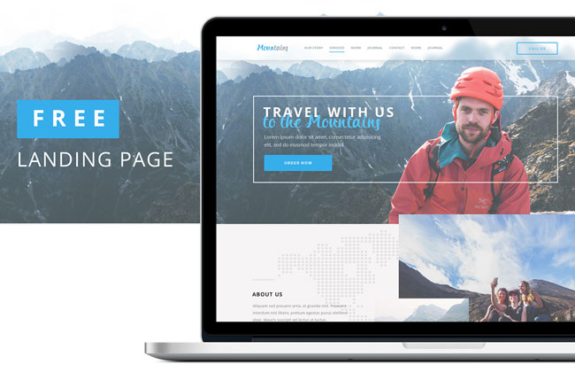 Mountains-Free-Travel-Landing-Page-PSD-Template