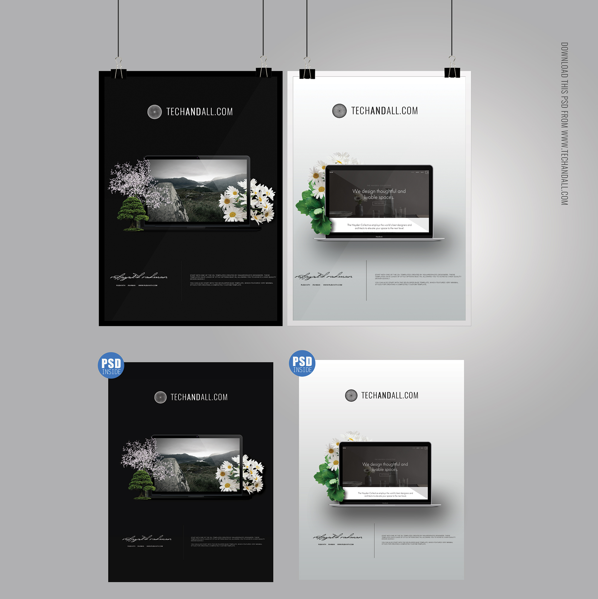 what is a psd template - 50 beautiful stylish free psd frame poster mockups for