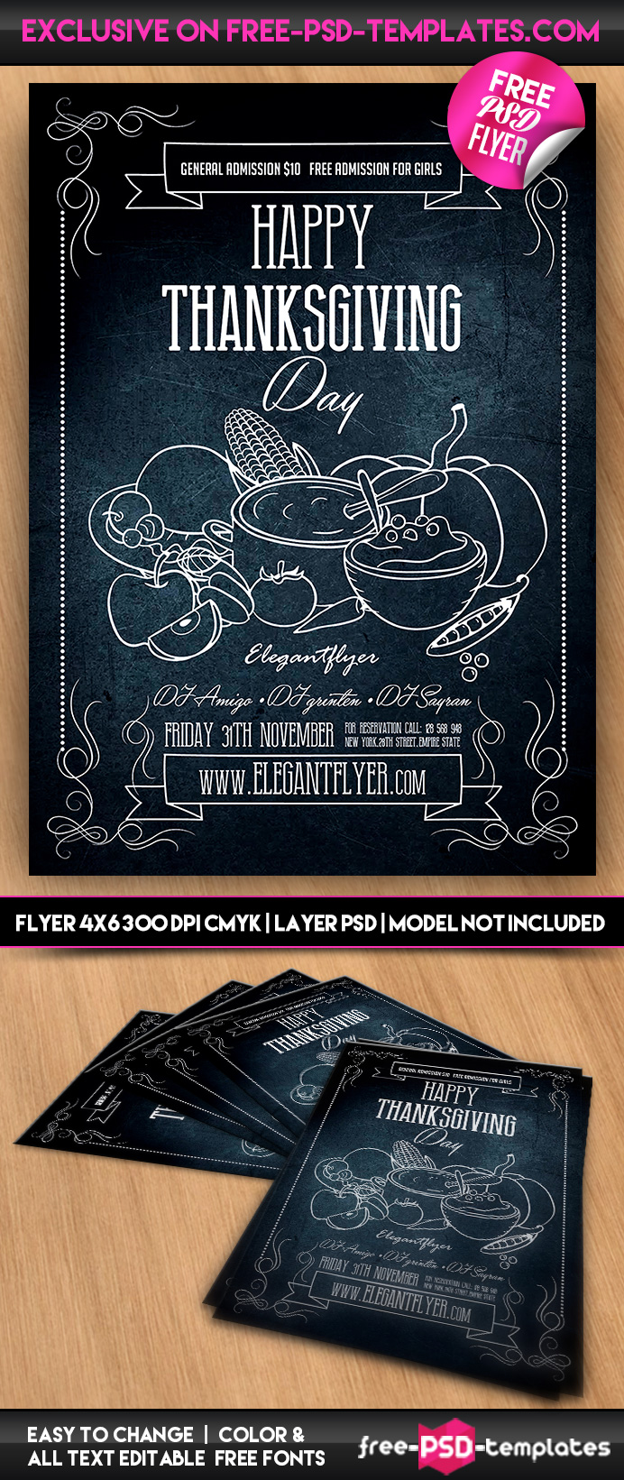 happy thanksgiving psd flyer template psd templates preview happy thanksgiving