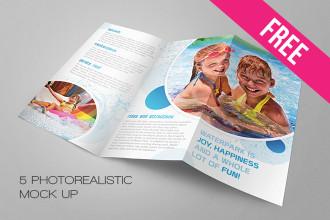 5 Free Tri-fold Brochure MockUps in PSD