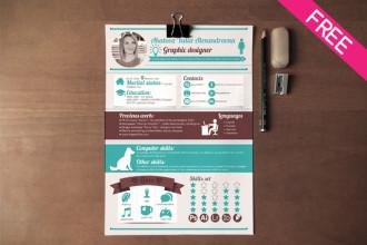 Resume Designer – FREE Resume / CV Template in PSD