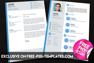 Simple Resume – Free PSD Template