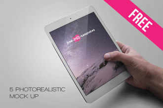 5 Free Ipad Tablet Mock-ups in PSD