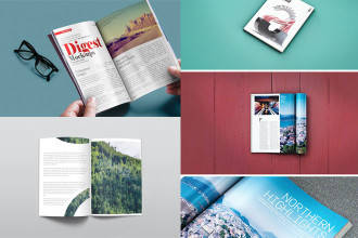 30+ Free and Premium PSD Qualitative Books/ Magazines/ Newspapers MockUps!