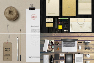 30+ Free and Premium PSD Branding Identity MockUps for designers and creators!