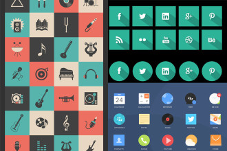 40+ Set of Free and Premium PSD Icons for your design!